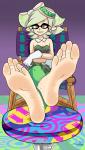 1girl barefoot cute feet female heels inkling marie nintendo shoeless sister soleful-jane_(artist) soles splatoon squid_sisters toes  rating:Safe score:9 user:SpriteFeetFetish