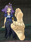 acerola barefoot big_feet cute feet large_feet pokemon pokemon_sun_and_moon smell smelling soleful-jane_(artist) soles sweat toes trial_captain  rating:Safe score:12 user:SpriteFeetFetish