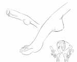 big_feet black_and_white gem long_feet long_toes pearl soles staerk_(artist) steven_universe wrinkles  rating:Questionable score:2 user:banaboogie
