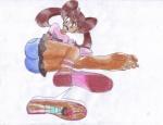 attractive big_feet brunette cute danmega9257_(artist) dark_skin domination feet giantess humiliation inshoe leinaddrawsfeet_(artist) long_toes moon moon_(trainer) pokemon pov shauna soles tease toes  rating:Questionable score:3 user:DanMega9257