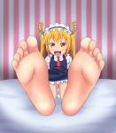 1girl barefoot horns kobayashi-san_chi_no_maidragon soles toes tohru  rating:Questionable score:5 user:PBB