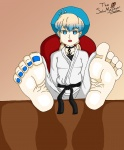 barefoot blue_eyes cute feet large_feet nail_polish nel pov sitting soles thesolemasterr_(artist) toes  rating:Questionable score:2 user:TheSoleMasterr