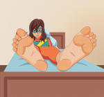kamala_kahn marvel ms_marvel set10_(artist) soles toes  rating:Questionable score:1 user:nalla
