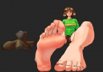 1girl chara edited human podolord_(artist) soles undertale  rating:Questionable score:2 user:Dksw