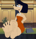 anthro barefoot dog feet female soles solo susan_swivelhips t95master_(artist) the_hoppity_hooper_show toes  rating:Questionable score:0 user:melvinbros