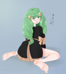 bare_legs barefoot blushing ethan_ppj_(artist) feet fire_emblem fire_emblem_three_houses flayn flayn_(fire_emblem) happy looking_at_viewer looking_back partially_clothed soles toes  rating:Safe score:3 user:PierrePaulJacque