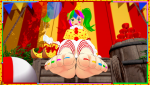 clown clowngirl devillord feet foot footfetish koikatsu! outdoors soles tease toes  rating:Safe score:2 user:devillord89