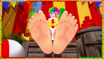 clown clowngirl devillord feet foot footfetish koikatsu! outdoors soles tease toes  rating:Safe score:3 user:devillord89