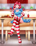 feet sitting stockings striped_stockings teasing toes wendy's  rating:Questionable score:0 user:king_bruh