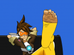 attractive big_feet brown_hair brunette cute danmega9257_(artist) feet large_feet leinaddrawsfeet_(artist) long_toes nail_polish overwatch pov scrunch soles tease toeless_legwear toes tracer wrinkles  rating:Questionable score:1 user:Pasquale