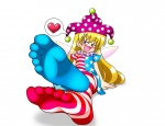 <3 blushing clownpiece cock_tease cock_throbbing attractive cute feet i'm_gonna_cum i_came long_hair madou_(artist) pov smiling sock soles stockings tease toes touhou wings  rating:Safe score:12 user:SonicTemperance