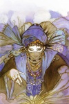 arabic black_hair blue character entity fantasy long_hair mage magic male necklace portrait ring smoke turban veil yellow yoshitaka_amano_(artist)  rating:Safe score:1 user:AllanGordon