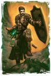 artist_request beard book brown_hair character dark_hair fantasy glowing_weapon human jmk_(artist) magic male scabbard shield strap sword tome van_dyke  rating:Safe score:0 user:urza