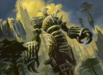 androgynous card_art colossus construct fantasy floating_island magic_the_gathering peter_mohrbacher_(artist) ravnica selesnya tagmemore temple trees wayfaring  rating:Safe score:0 user:DonQuixote