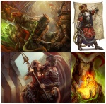 armor brown_hair bugbear cape character dagger dragonborn exotic_weapon fantasy female fingerless_gloves fire half-orc horns julie_dillon_(artist) male map portraits red_eyes rogue spear sword tagme tail thief tiefling wizards_of_the_coast  rating:Safe score:0 user:GentlemanKong