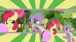 apple_bloom artist:neodarkwing cute dragon dress female male safe shipping spike  rating:Safe score:0 user:harmony