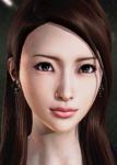 asian brown_eyes brown_hair card earrings female honey_select no_bangs original realistic  rating:Safe score:7 user:illusioncards