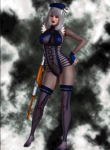 big_card_mod commando female gun honey_select mec military red_eyes suit swimsuit white_or_silver_hair  rating:Safe score:8 user:pilotoxx