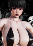 black_hair brown_eyes coiffure_hair curvy female goth large_ass large_breasts mods  rating:Questionable score:10 user:EvilMcNasty