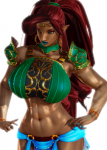 breath_of_the_wild dark_skin gerudo green_eyes honey_select muscular red_hair the_legend_of_zelda urbosa  rating:Questionable score:21 user:whalecow
