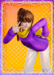 a_hat_in_time brown_hair cape female hat_kid scarf teal_eyes video_games  rating:Safe score:4 user:code3u