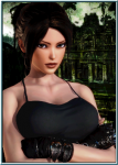 brown_eyes camisole card classic_lara female fingerless_gloves gloves hair_bun honey_select lara_croft ponytail portrait tomb_raider video_games  rating:Safe score:8 user:Anonymous