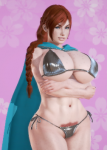abs blue_eyes buffscale card elder_scrolls female large_breasts nord red_hair skyrim white_skin ysolda  rating:Questionable score:6 user:Buffscale
