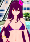 bodysuit fate/grand_order fate_(series) female koikatsu large_breasts long_hair purple_hair red_eyes red_hair scathach scathach_(fate) skin_tight  rating:Questionable score:8 user:hmmmmname