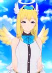 angel blonde_hair blue_eyes koikatsu tagme  rating:Questionable score:3 user:beruank
