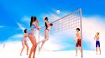 beach bikini black_hair brown_eyes family scene sfx shotacon slice_of_life sports studio_neo volleyball  rating:Safe score:9 user:Gardan