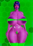 alien large_breasts green_eyes large_ass maka pink purple starlene  rating:Questionable score:-13 user:TheSalletKnight
