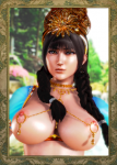black_hair, braided_hair crown, female, gold, hannibal, honey_select piercing, princess, queen, tagme, warrior,  rating:Questionable score:5 user:Hannibal