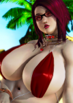 asian bbw brown_hair chubby curvaceous curvy fakku fishnet honey_select_unlimited japanese large_ass large_breasts lipstsick milf mole oc plump red_hair swimsuit tagme wide_slider_mod yellow_eyes  rating:Questionable score:4 user:New_Guy_25