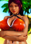 black_hair curvaceous curvy dark_skin fakku female gyaru hips honey_select_unlimited large_ass large_breasts oc  swimsuit tagme tan_skin thicc yellow_eyes  rating:Questionable score:0 user:New_Guy_25