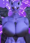 buffscale card cat demon feline female furry panther_demon purple thicc  rating:Explicit score:3 user:Buffscale