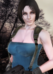 4k blue_eyes bongo brown_hair card celebrity female honey_select jill_valentine julia_voth movies pale_skin police realistic resident_evil video_games  rating:Safe score:3 user:Bongo