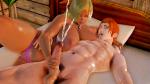 blonde_hair cabin cumshot dark_skin honey_select orange_hair rufus scene studio_neo  rating:Explicit score:3 user:Lot_knock