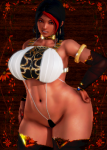 black_hair brown_eyes card carmessi curvy fakku fan_character female gala gala_(carmessi) honey_select_unlimited large_ass large_breasts long_hair mole oc red_hair swimsuit tagme tan thicc wide_hips wide_slider_mod  rating:Questionable score:2 user:New_Guy_25