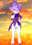 anthro blaze_the_cat cat female furry koikatsu mods purple sonic_the_hedgehog tail torn_clothing video_games yellow_eyes  rating:Questionable score:5 user:k3ss