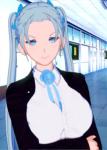 blue_eyes female grey_hair koikatsu long_hair medium_breasts meikoku_gakuen_jutai_hen:_onegaishimasu......_sensei_no_seieki_de_watashi-tachi_wo_tasukete_hoshiin_desu! teikei_rio tied_hair twintails  rating:Safe score:2 user:SoulArbiter