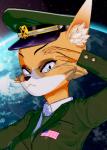animal_ears anthro female fox furry koikatsu lt._fox_vixen military squirrel_and_hedgehog wide_slider_mod  rating:Safe score:3 user:k3ss