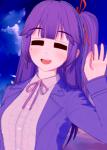 blue_eyes female koikatsu original purple_hair tagme  rating:Questionable score:-2 user:Laminuz