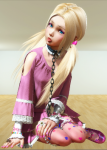 blonde_hair blue_eyes chain chained collar loli playhome slave tagme  rating:Questionable score:-9 user:Kenza