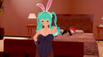 bedroom blue_hair bunny_suit cum hatsune_miku kurucris masturbate oc orange_hair original_character purple_hair red_hair scene sleeping spying studio tagme  rating:Questionable score:2 user:Kurucris
