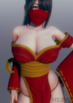 ai_girl ai_shoujo asian kunoichi large_breasts ninja ninja_girl tagme  rating:Questionable score:-16 user:IllusionArt