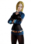 android_18 anime blonde_hair blue_eyes dragon_ball dragon_ball_z female fingerless_gloves honey_select manga necklace tagme  rating:Questionable score:31 user:atom