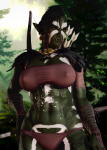 black_hair bow fantasy female green_skin honey_select johohontas muscular non-human orc party_dlc piercings pointed_ears short_hair tagme tattoo weapon wide_slider_mod yellow_eyes  rating:Safe score:18 user:Anonymous