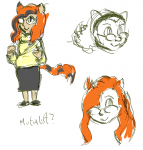 catgirl chubby glasses mutualism sketch sweater tagme  rating:Safe score:1 user:capta