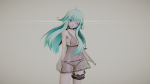 blue_eyes choker denpa_onna_to_seishun_otoko lingerie model morph:clothes_remove morph:vagina_open small_breasts suckit92 tda  rating:Explicit score:1 user:HentaiGrabber