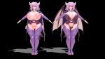 alma_elma bangs boots cameltoe cape demon_wings etached_sleeves hoker huge_breasts large_breasts long_hair model monmusu_quest! monster_girl morph:clothes_remove plump pointed_ears purple_hair quest! red_eyes succubus tail thick_thighs tight tstorage very_long_hair wings  rating:Questionable score:0 user:FDWn